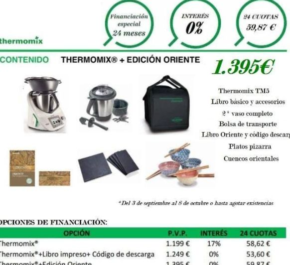 Consigue tu Thermomix® 0%