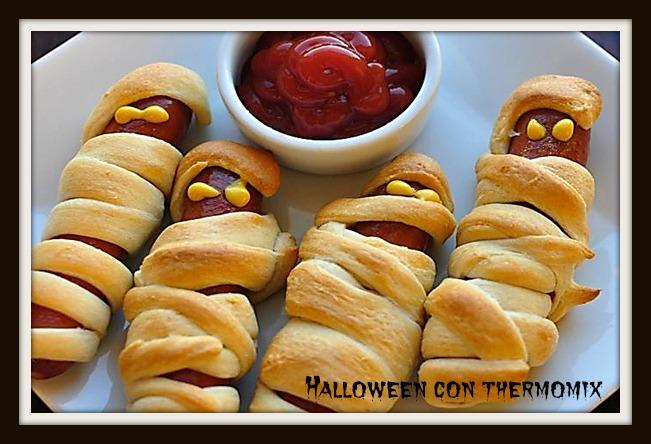 Halloween con Thermomix® : Momias de salchichas y hojaldre