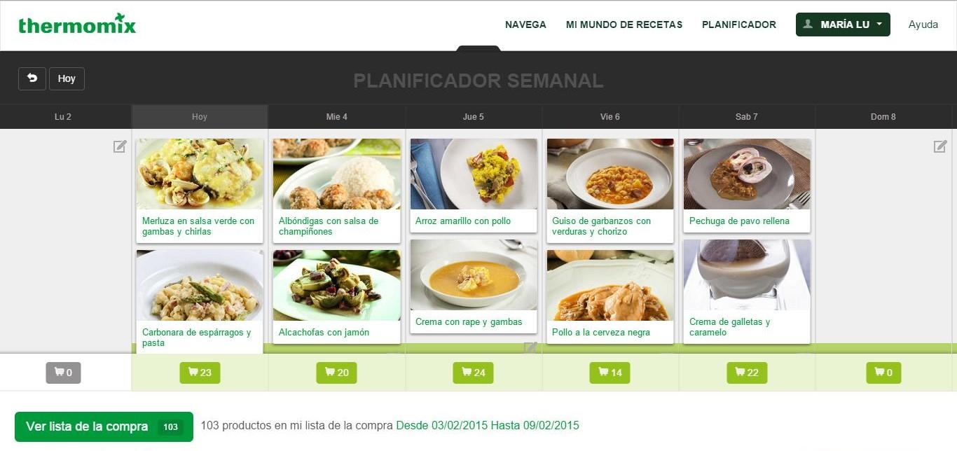 Planificador semanal en www.mithermomix.es