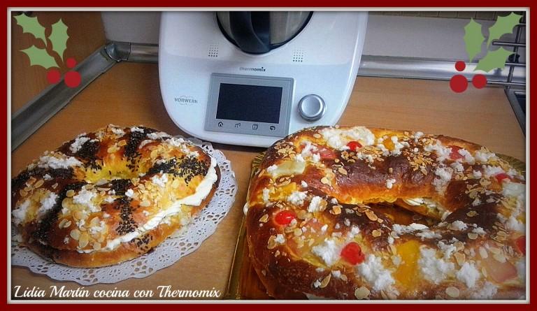 Receta de Roscón de Reyes con Thermomix® e elegir entre varios rellenos