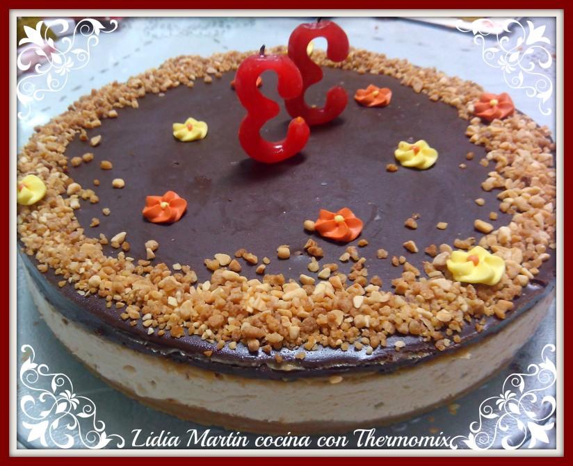 Receta de Tarta helada de turrón y chocolate con Thermomix®