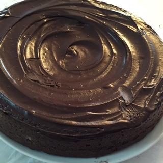 Bizcocho de chocolate dos texturas