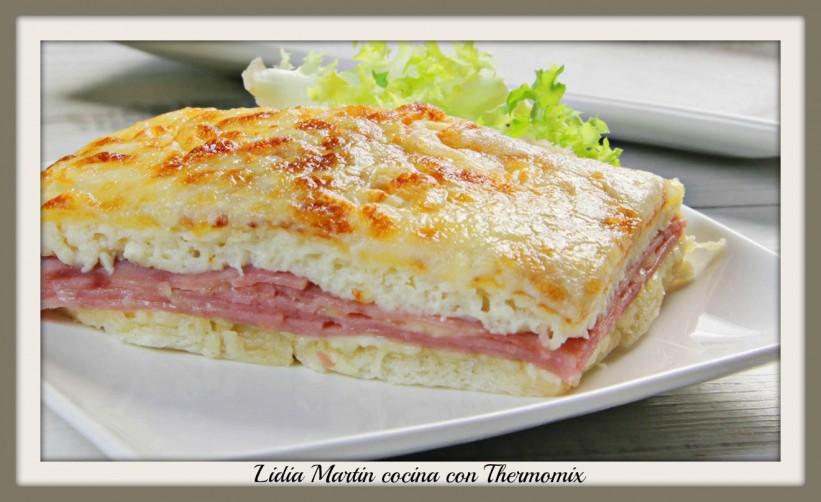 Receta de lasaña de pan de sandwich con Thermomix®