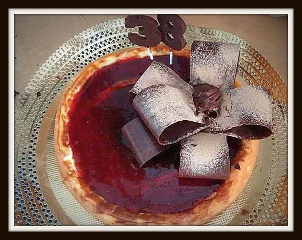 Receta de Tarta de queso de mermelada de arándanos con Thermomix®