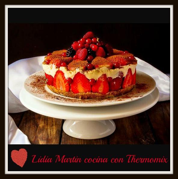 Receta para San Valentín de Tiramisú de fresas con Thermomix®