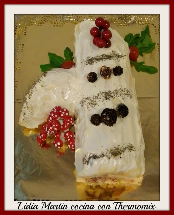Receta de Tronco de Navidad salado vegetal con Thermomix®