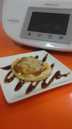Montadito de berenjena y cebolla con Thermomix®