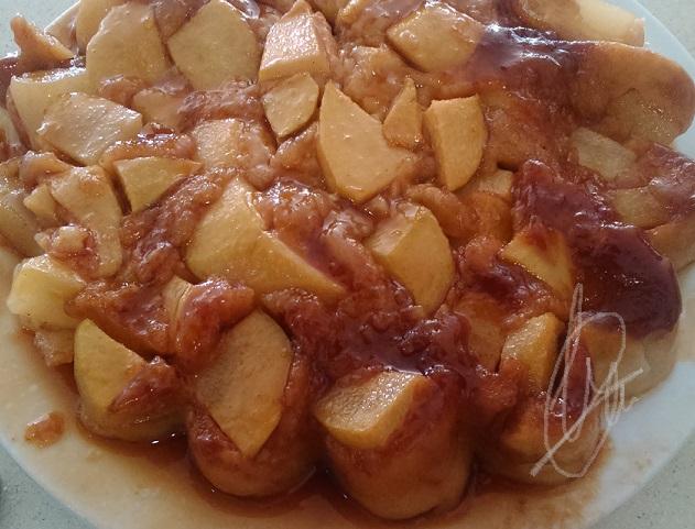 Tarta de peras al vapor