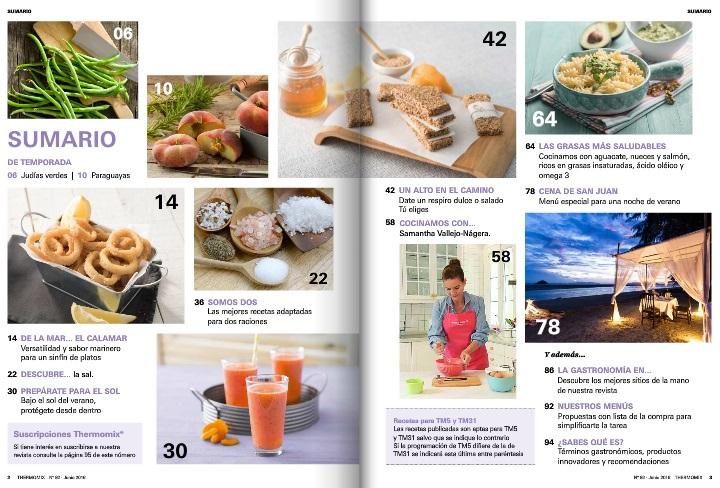 Revista de junio de Thermomix® con 'La salud empieza en el plato'