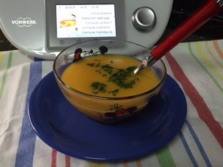 Crema de patatas, puerro y zanahorias