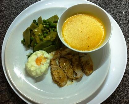 Menú ligero completo con Thermomix® : Crema de verduras, pechuga de pollo en papillote con menestra y huevos poché
