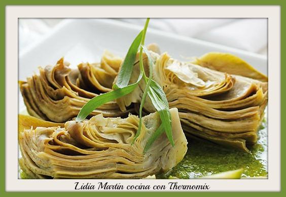 Receta de alcachofas en salsa verde con Thermomix®