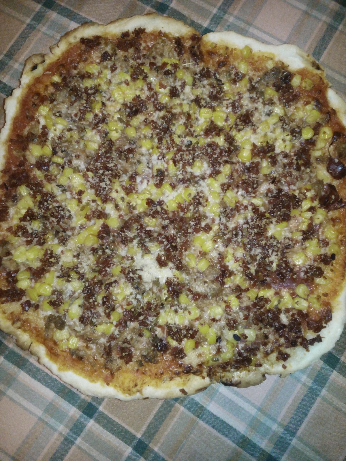 Masa de pizza o chapata. Sin gluten, Vegetariana, Vegana.