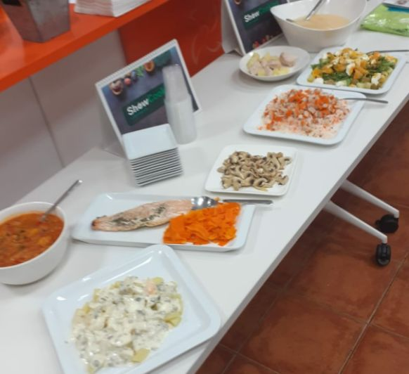 Menú 1: Pisto, salmón, verduras.
