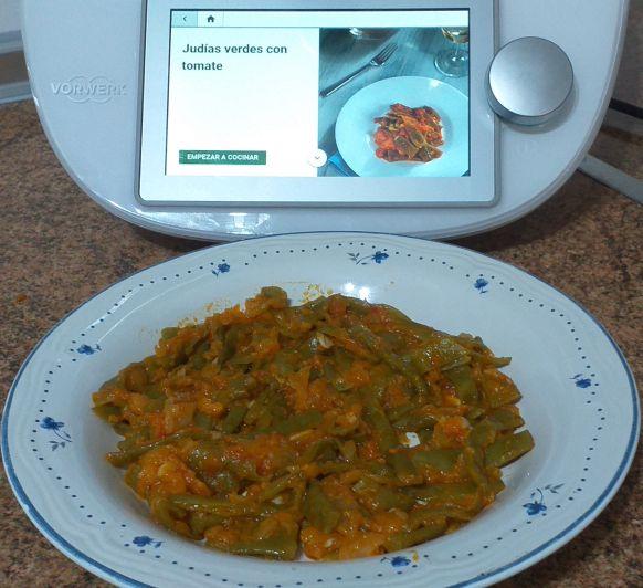 Judías verdes con tomate en Thermomix®