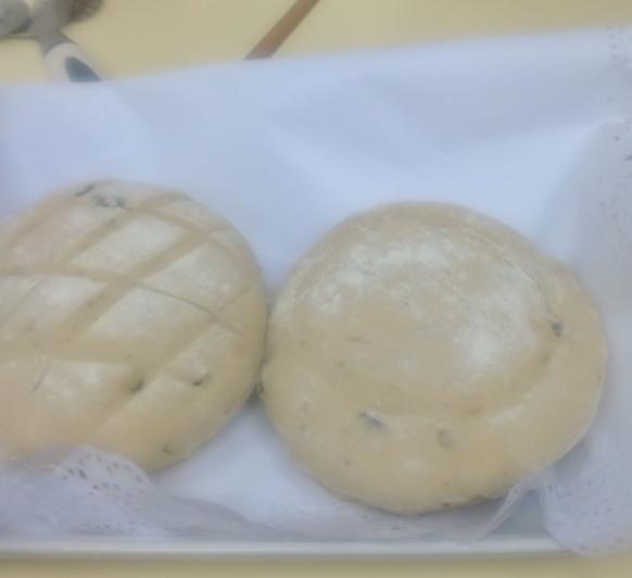 Pan de ajoblanco y pasas