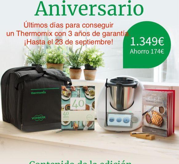 Thermomix® con 3 años de garantía