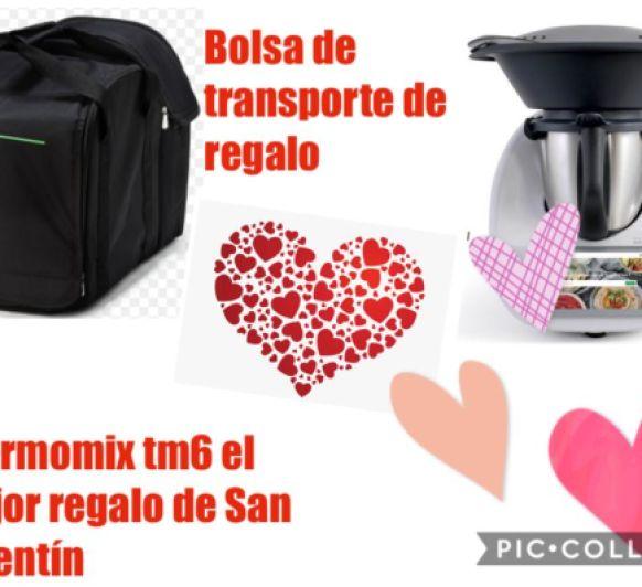 San Valentín, con bolsa de transporte de regalo