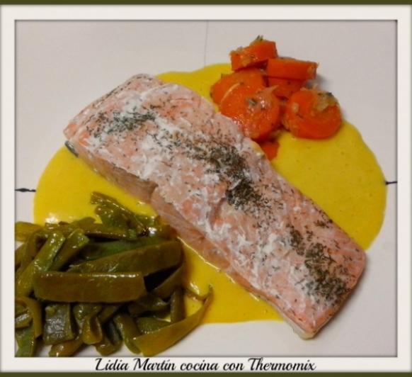 Receta de salmón con salsa de naranja con Thermomix®