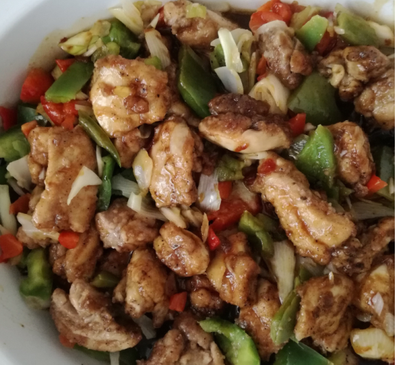 Pollo estilo chino.