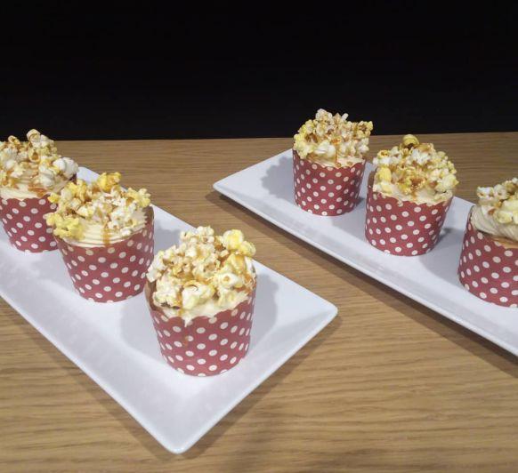 Cupcakes con Palomitas y Toffe Salado