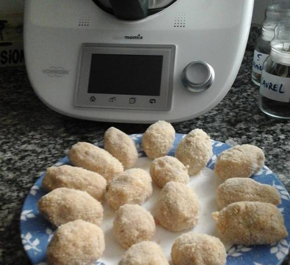 Croquetas de puchero, jamón y huevo duro con Thermomix®