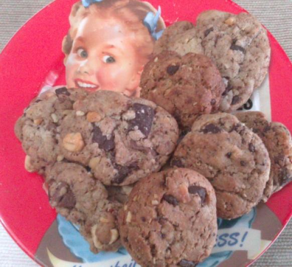 Cookies chocolates y avellanas