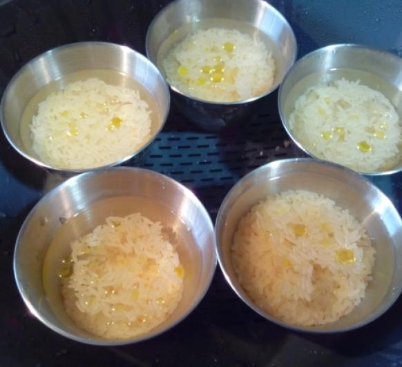 Caldo y arroz