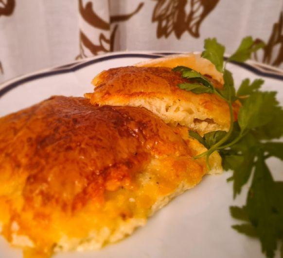 Costrada 4 quesos con Pesto de Hierbabuena