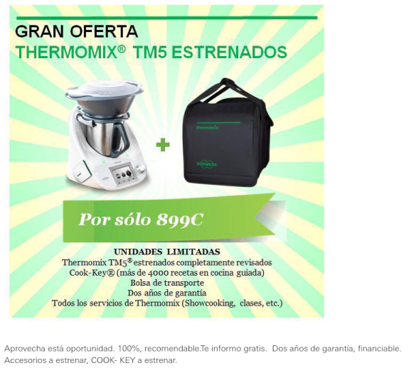 Thermomix® TM5 ''kilometro 0''