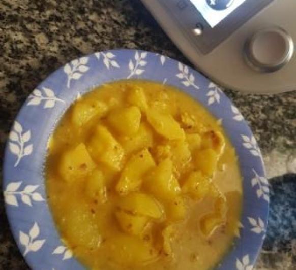 Patatas con choco ( jibia) con Thermomix®